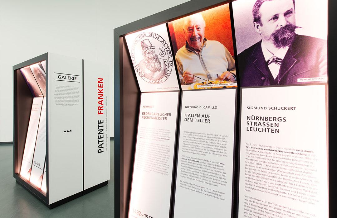 toc. designstudio - Patente Franken - Mobile Wanderausstellung - Szenografie