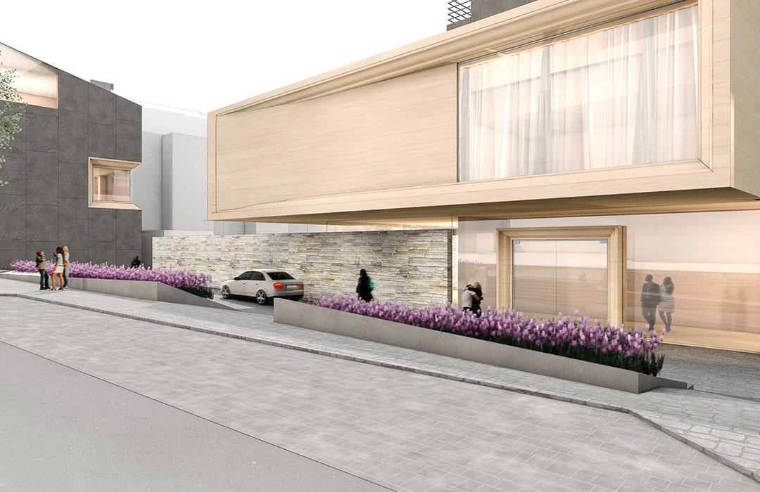 toc designstudio - Architektur Rehau Hotel - Architekturstudie